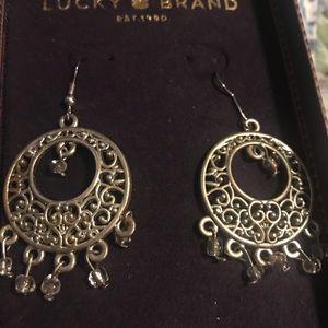 New Lucky Brand Boho Antique gold Filigree Earring
